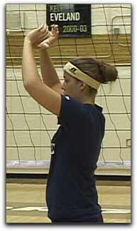 volleyball limit arm movement when setting the volleyball